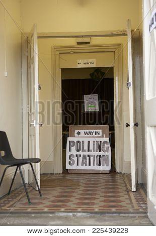 Polling Station Entrance