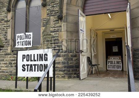 Entrance To Polling Station