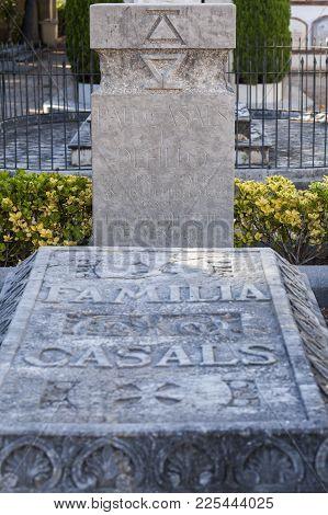 El Vendrell,spain-october 21,2017:grave Of Pau Casals In Cemetery Of El Vendrell,catalonia,spain.