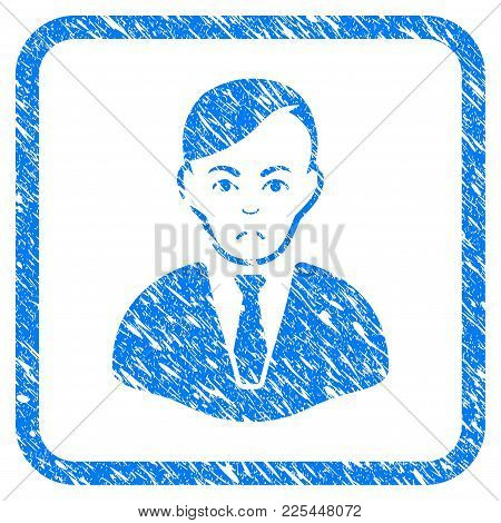 Businessman Rubber Seal Stamp Watermark. Icon Vector Symbol With Grunge Design And Unclean Texture I