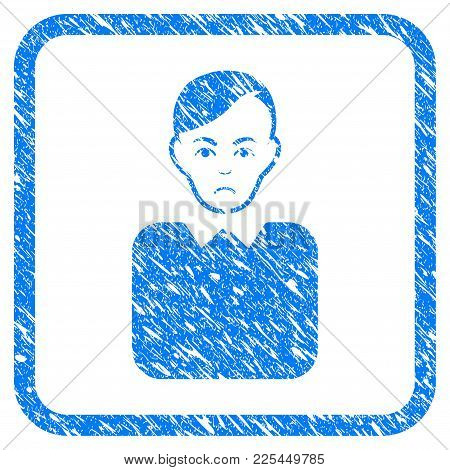 Bureaucrat Rubber Seal Stamp Imitation. Icon Vector Symbol With Grunge Design And Corrosion Texture