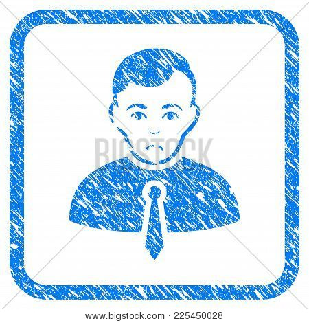 Businessman Rubber Seal Stamp Imitation. Icon Vector Symbol With Grunge Design And Dust Texture In R