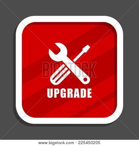Upgrade icon. Flat design square internet banner.