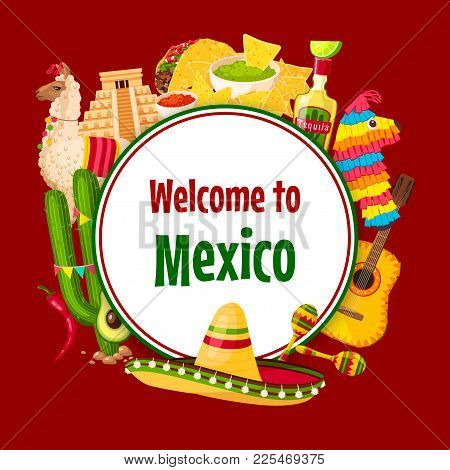 Mexican poster mexico vector photo free trial bigstock mexican poster of mexico symbols for cinco de mayo 5 may national holiday celebration greeting card m4hsunfo
