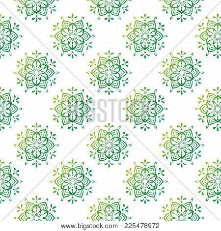 Beautiful Mandala Pattern Stock Vector Illustration Greeting Card