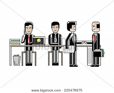 Business Meeting And Contract Conclusion Asian Businessmen In Conference Room. Corporate Business Pe