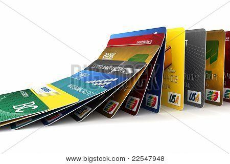 Spadające karty kredytowe