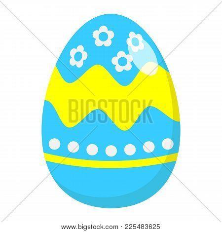Easter Egg Flat Icon, Easter And Holiday, Celebration Sign Vector Graphics, A Colorful Solid Pattern