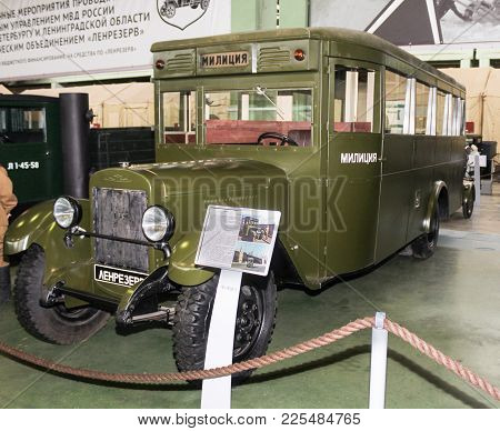 St. Petersburg, Russia - 7 May, Police Bus Zis-6 In 1936 Issue, 7 May, 2017. Automobiles And Vehicle