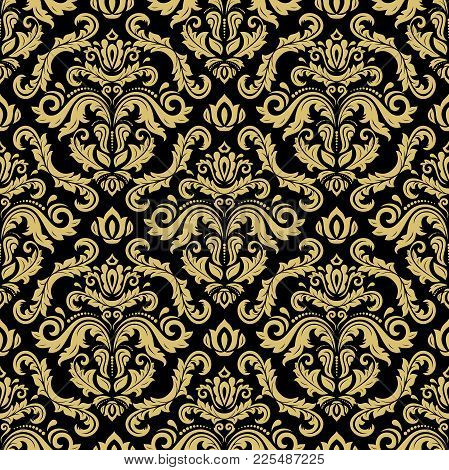 Classic Seamless Golden Pattern. Traditional Orient Ornament. Classic Vintage Background