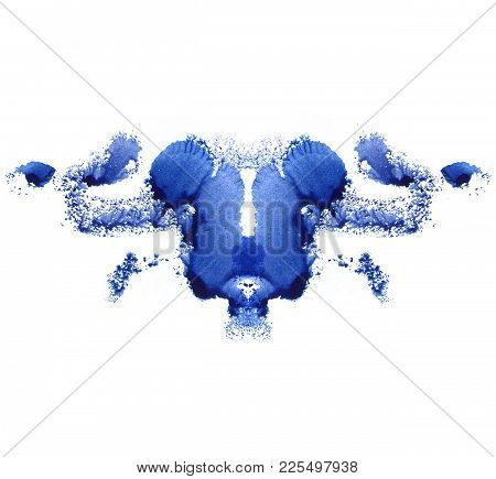 Abstract Watercolor Paint Mark. Blue Color. Different Associations