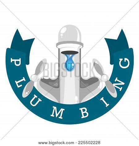 Mixer For Water Plumbing Symbol Vector Save