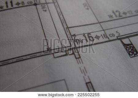 Black Hand Drawing Technblack Manual Technical Drawing Made With A Pencil On A White Tracing Paper M