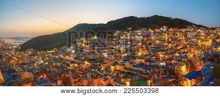 Panorama Photo Of Gamcheon Village In Busan City, South Korea