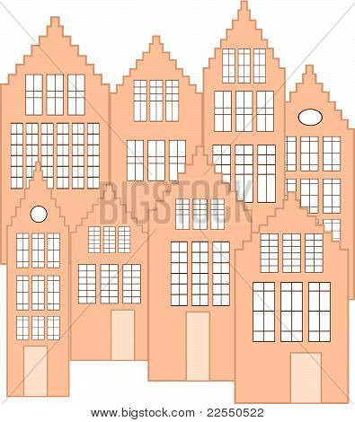 dutch facades vector