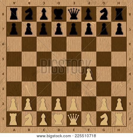 First Step In Chess. Game For Mind And Think