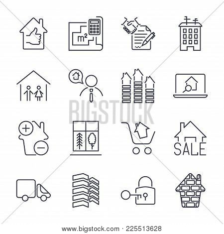Real Estate Icon Suitable For Info Graphics, Websites And Print Media Skyscaper, Garage, City, Bildi