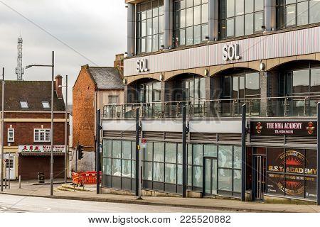 Northampton Uk January 05, 2018: Sol Logo Sign In Northampton Town Centre.