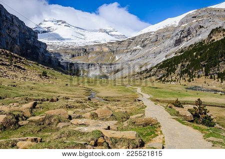 Trail In Ordesa Valley, Aragon, Spain
