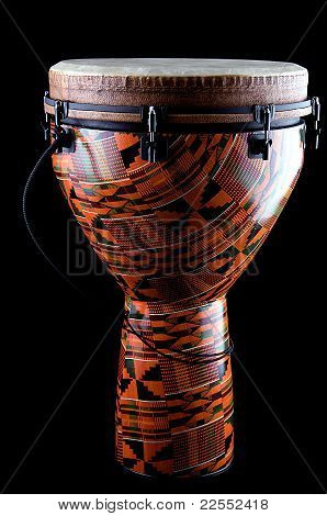 African Djembe Conga Drum Isolated