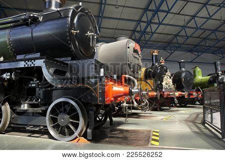 Steam Locomotives In National Railway Museum York England