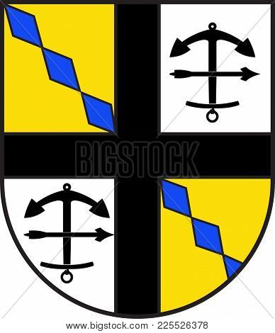 Coat Of Arms Of Drolshagen Is A Town Belonging To The District Of Olpe In The Regierungsbezirk Of Ar