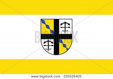 Flag Of Drolshagen Is A Town Belonging To The District Of Olpe In The Regierungsbezirk Of Arnsberg I