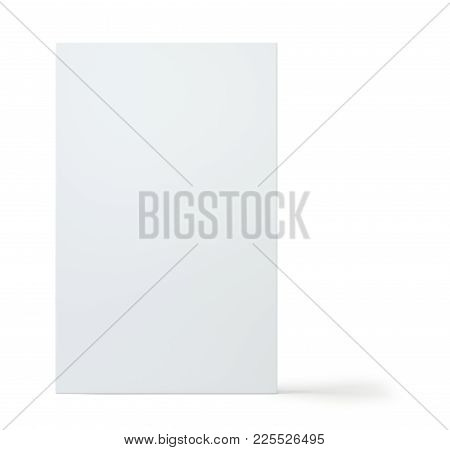 Blank White Package Product Packaging Paper Cardboard Box. Isolated On White Background With Soft Sh