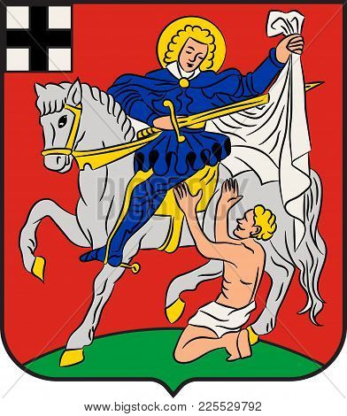 Coat Of Arms Of Olpe Is A Town Situated In The Foothills Of The Ebbegebirge In North Rhine-westphali