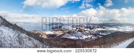 Panorama View Of Showa Shinzan From Mount Usu Or Usuzan