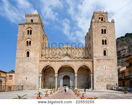 Medieval Cathedral In Cefalu, Sicily