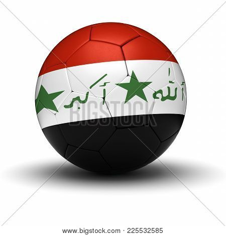 Iraqi Football (isolated With Clipping Path) 3d Rendering