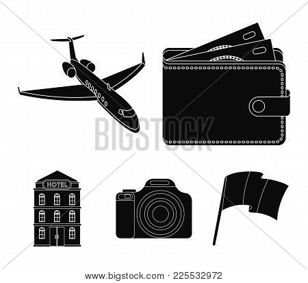 Vacation, Travel, Wallet, Money .rest And Travel Set Collection Icons In Black Style Vector Symbol S