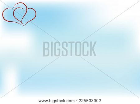 2838126 Heart And Sky. Happy Valentine's Day Greeting Card. Space For Your Text. Vector