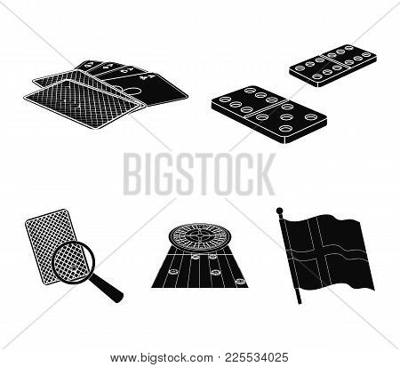 Excitement, Casino, Game And Other  Icon In Black Style Magnifier, Cheating, Entertainment, Icons In