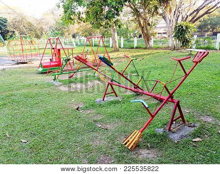 Seesaw And Plaything In The Playground, No Body