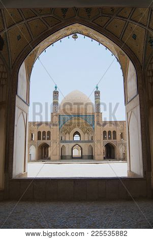 Kashan, Iran - June, 26, 2007: View To The Entrance To The Agha Bozog Mosque In Kashan, Iran.