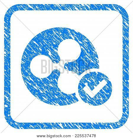 Ripple Coin Valid Rubber Seal Stamp Imitation. Icon Vector Symbol With Grunge Design And Corrosion T