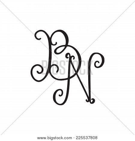 Handwritten Monogram Vector Photo Free Trial Bigstock