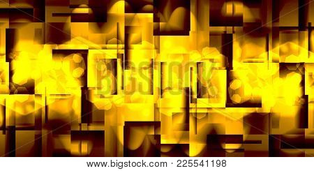 abstract gold  background of glossy squares