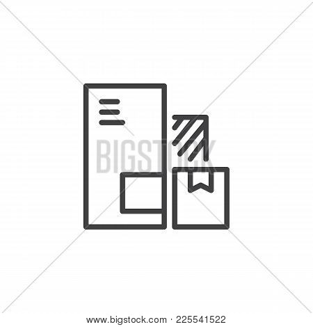 Delivery Packaging Boxes Line Icon, Outline Vector Sign, Linear Style Pictogram Isolated On White. C