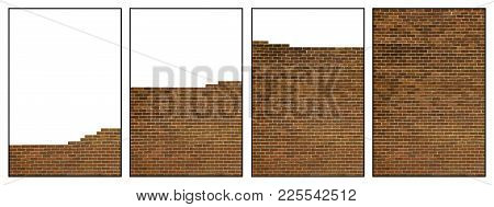 Four Picture Sequence Of Wall Being Built