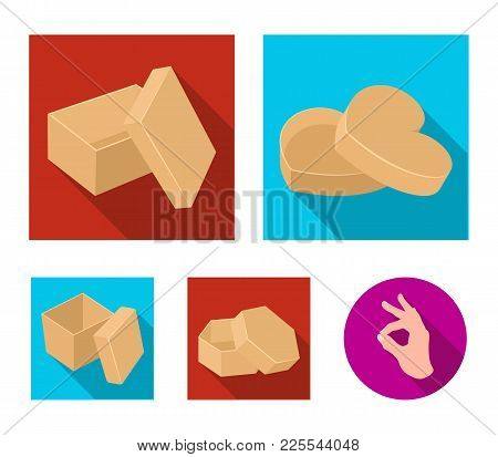 Box, Container, Package, And Other  Icon In Flat Style.case, Shell, Framework, Icons In Set Collecti