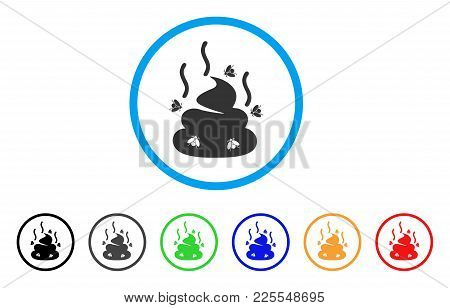 Smell Bullshit Icon. Vector Illustration Style Is A Flat Iconic Smell Bullshit Black Symbol With Gre