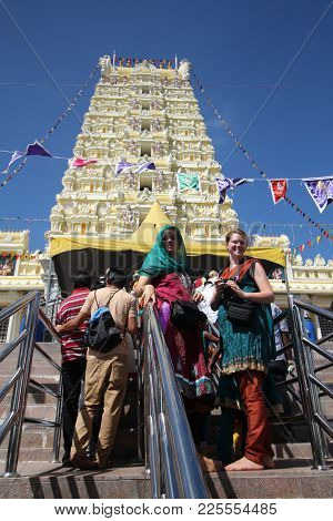 Visitor At Hilltop Arulmigu Balathandayuthapani Temple During Thaipusam Festival.,