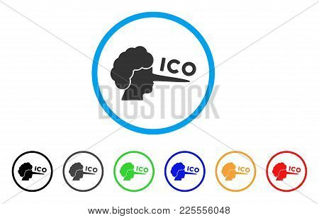 Ico Lier Icon. Vector Illustration Style Is A Flat Iconic Ico Lier Black Symbol With Gray, Yellow, G