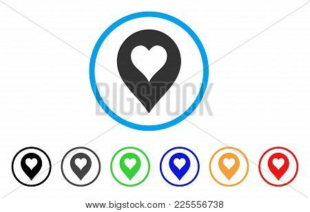 Heart Casino Marker Icon. Vector Illustration Style Is A Flat Iconic Heart Casino Marker Black Symbo