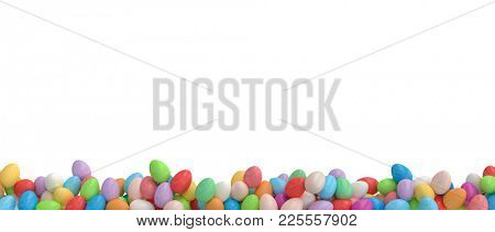 3d image of colorful easter eggs