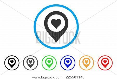 Casino Map Marker Icon. Vector Illustration Style Is A Flat Iconic Casino Map Marker Black Symbol Wi