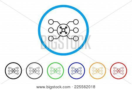 Roulette Circuit Icon. Vector Illustration Style Is A Flat Iconic Roulette Circuit Black Symbol With